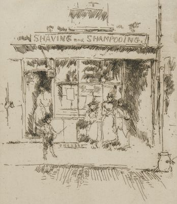 Shaving and Shampooing by James McNeill Whistler, ca. 1886-1888.