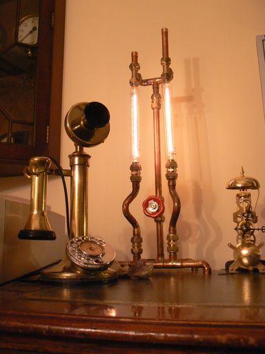 steam  brass and fzz  u00bb copper pipe lamp