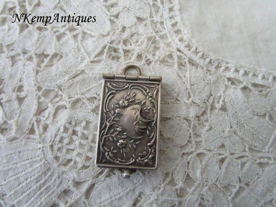 French souvenir pendant book by Nkempantiques on Etsy