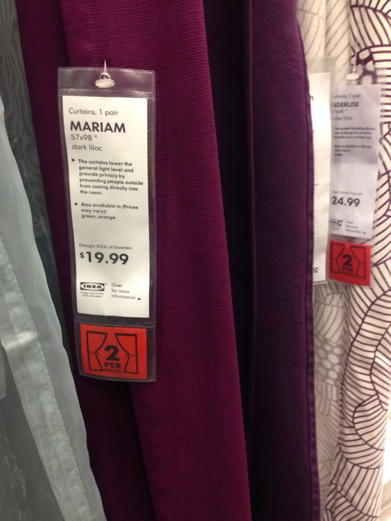 Bright Eggplant Purple Curtains From Ikea Decorate The