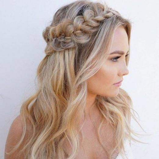 20 Easy Hairstyles For The Fabulous Girl On The Go Braided Crown