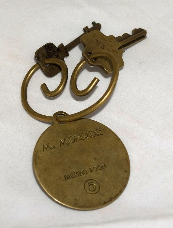 Marilyn Monroe dressing room key. This is the one item I would love to have.. MH
