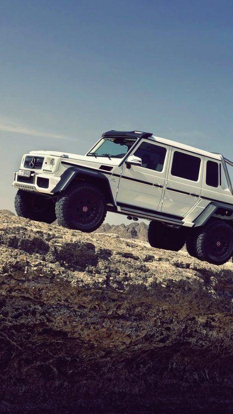 Mercedes Benz G63 Amg 6x6 In Desert Canyon Rocks Iphone Wallpaper