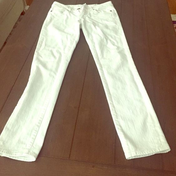 White Paige Straight Leg Jeans White Paige brand jeans. The ankles are a little loose. Love these pants but they are too small for me. Size 24. Paige Jeans Jeans Straight Leg