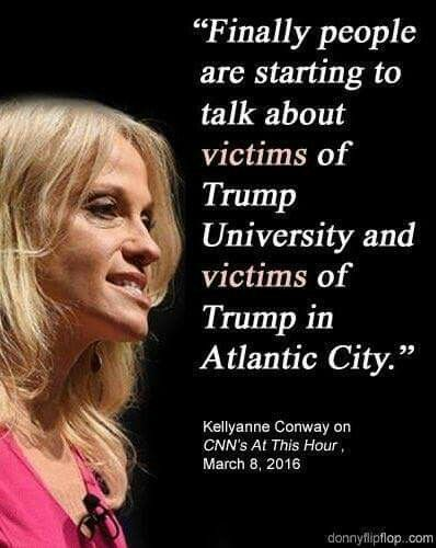 Just six months ago, when she was a Ted Cruz supporter... Wow! This is rich! (Not surprising, just par for the course in trump-world where hypocrisy and back-peddling reign supreme,)