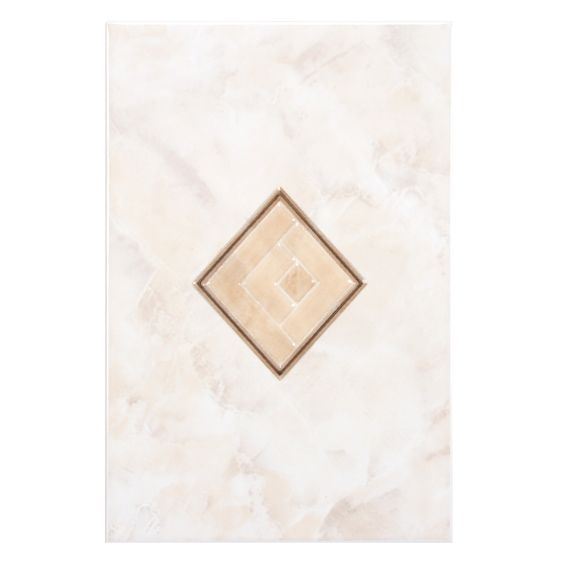 "Alpha 7.75"" x 11.75"" Ceramic Decor Wall Tile in Beige"