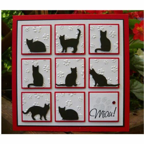 CAT TINY MOUSE die cuts scrapbook cards