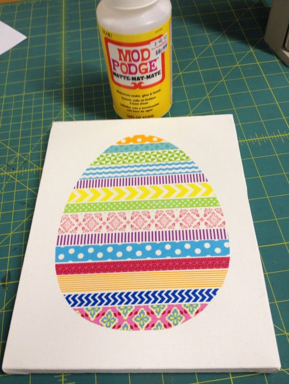 Washi Tape Egg canvas