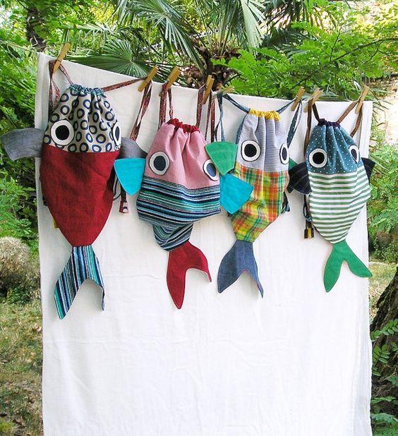 Un sac à dos sac doublé pour les enfants. Ce Big Fish peut transporter la…: