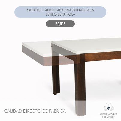 Necesitas renovar tu espacio y sacarle provecho, esta mesa con extensiones te encantará. Siempre a mejor precio comprando en nuestra fábrica.