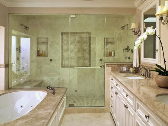 Designer Christopher Grubb double-size shower for two.