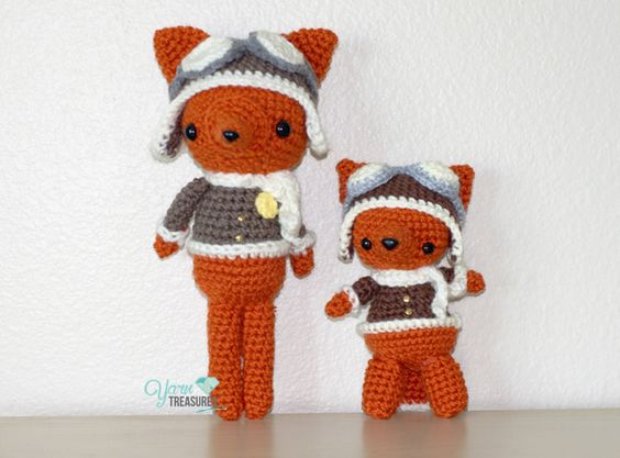 Free crochet fox pattern by Yarntreasures.com, an ...