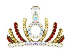 Statement Diamante Crown Tiara