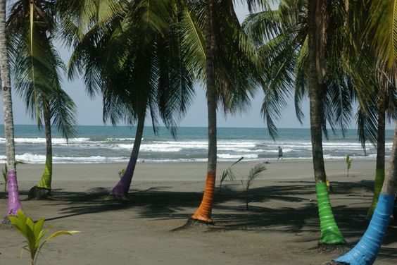 Limon Province - The beach of the famous resort, Puerto Viejo