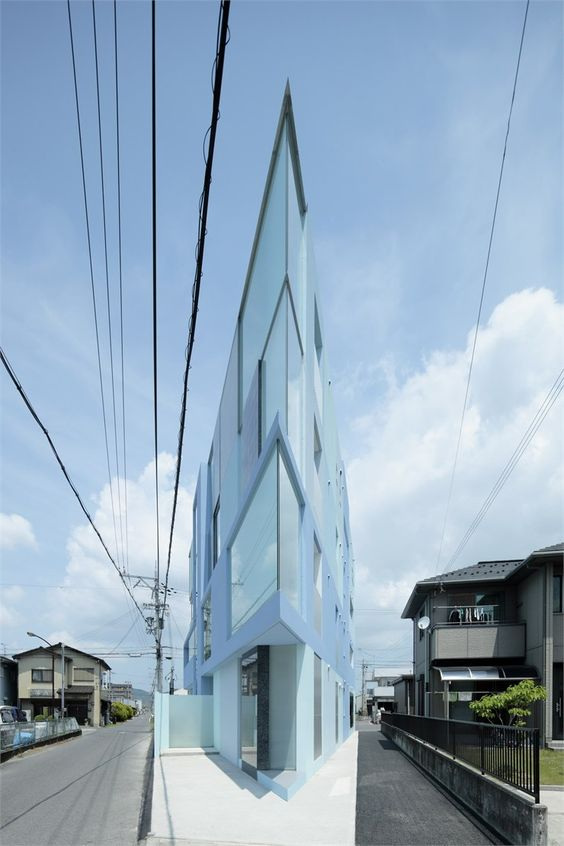 On the corner, #Youkaichi City, 2011 by Eastern design Office #architecture #japan #building #glass #house