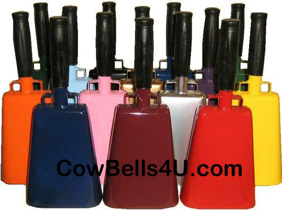 The best place to buy your Quality sports cow bell. These Cowbells make a lot of noise for your team