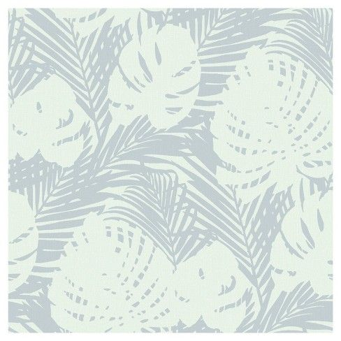 Devine Color Prints And Patterns Tropical Leaves Mauve Grey In A Deep Lavender And Taupe Color Way Is A Peel Peel And Stick Wallpaper Tropical Leaves Wallpaper
