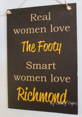 Real-Women-Richmond-Aussie-Rules-Sign-Tigers-Bar-Shed-Kitchen-Office-BBQ-Chic