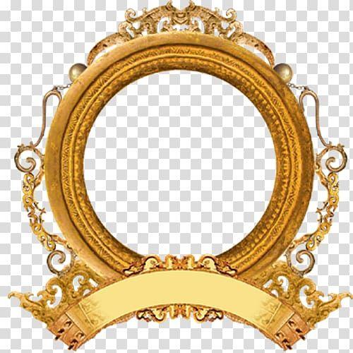 Round Gold Frame Illustration Mirror Frame Round Frame Transparent Background Png Clipart Gold Frame Gold Picture Frames Frame Border Design