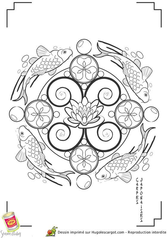 Mandala japon carpes page 2 sur 13 sur - Hugo l escargot mandala ...