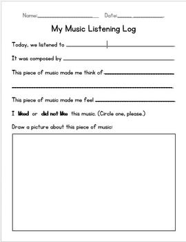 Printables Music Appreciation Worksheets primary music listening worksheet could use something like this for a bell ringer
