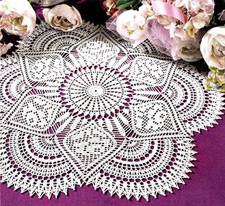 Royal Rose Doily
