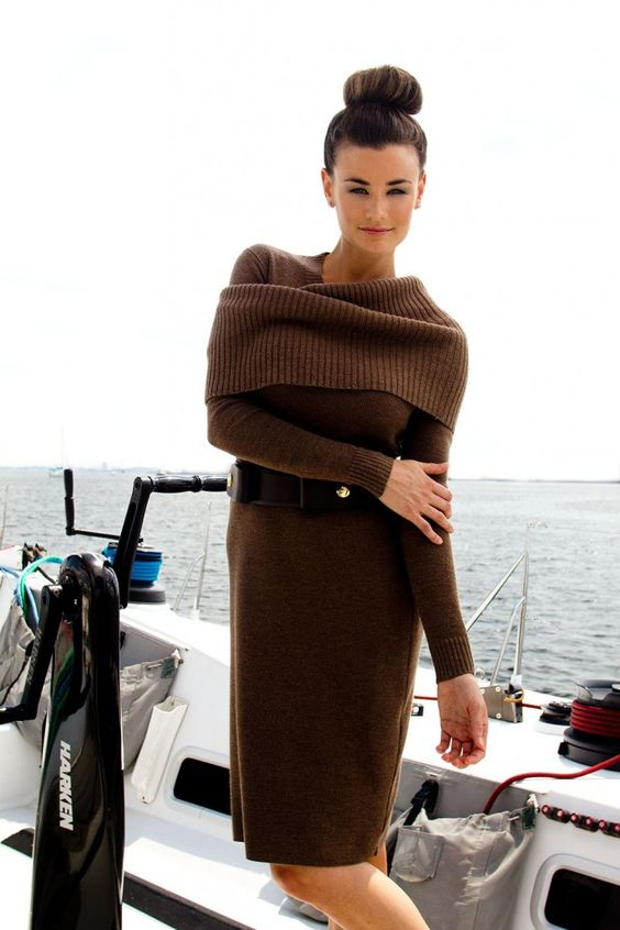 Classic knit dress is perfect for fall; the knit donut wrap is perfect for fall evenings! Both from Worth New York fall 2012 line!