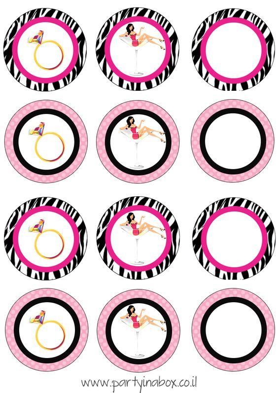 Cupcake Toppers Despedida De Soltera Pinterest