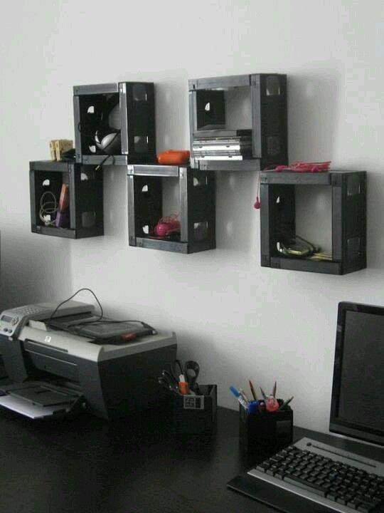 VHS Tape Shelves: