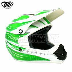 2014 Thh Tx11 Razor Youth Motocross Helmet - White Green - 2014 Thh Motocross Helmets - 2013 Motocross Gear - by Thh Helmets