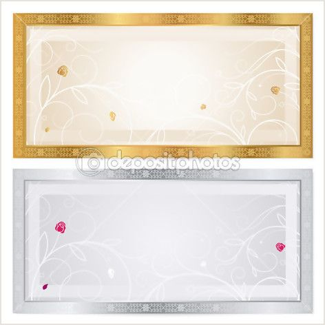 Voucher template with floral pattern watermark and border – Money Voucher Template