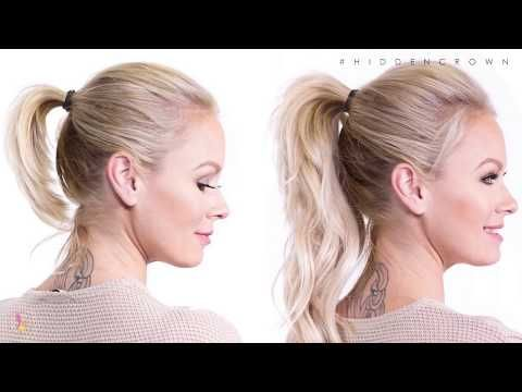 How To Perfect Ponytail Hidden Crown Youtube Perfect Ponytail Crown Hair Extensions Crown Hairstyles
