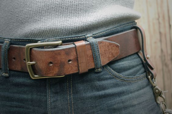 "The Mountain Belt in Dark Brown. 1/75"" Heavy Duty Leather Belt. - Just received mine. Holy Shitballs is it awesome!:"