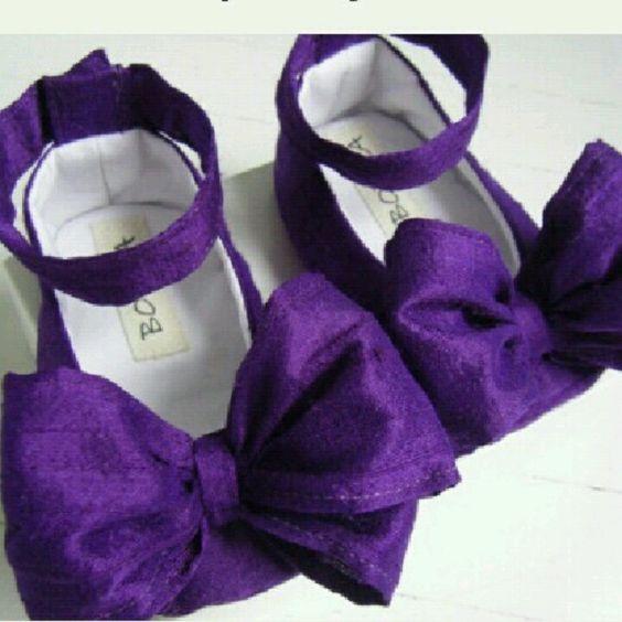 #purple #babybowshoes