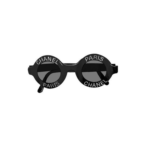 V. & V. ❤ liked on Polyvore featuring sunglasses, glasses, accessories, fillers, round, circle and circular