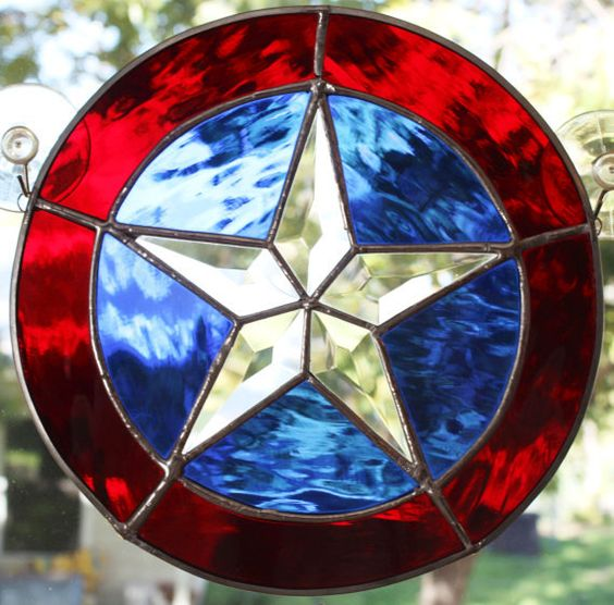 Stained Glass Texas Star by karenkarlikglass sold out, I could make one if I had all my stuff still