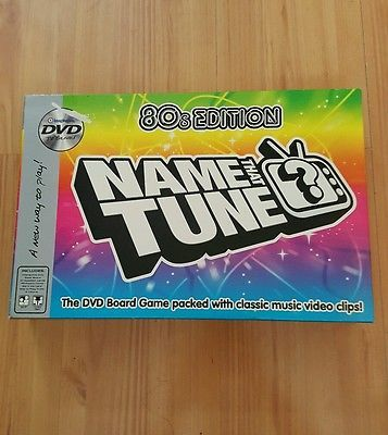 NAME THAT TUNE 80s DVD BOARD GAME Trivia Music Edition TV Show Party Classic