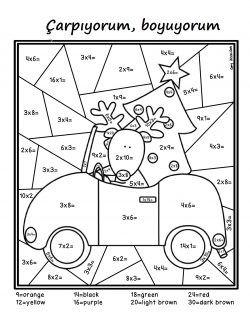 Carp Ve Boya Etkinlik Kagidi Carpma Ucuncu Sinif Matematigi 4 Sinif Matematigi
