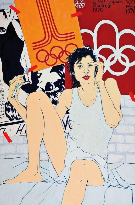 © Hope Gangloff, Olympic Hangover Team Captain, 206x137 cm, acrylic sur toile, 2008