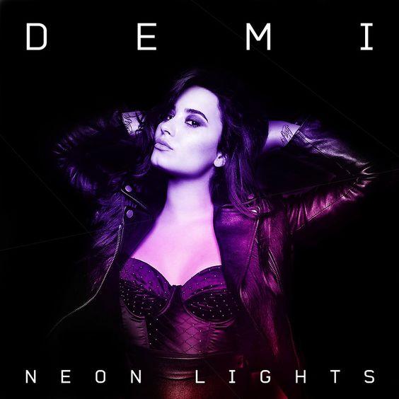 Demi Lovato – Neon Lights (single cover art)