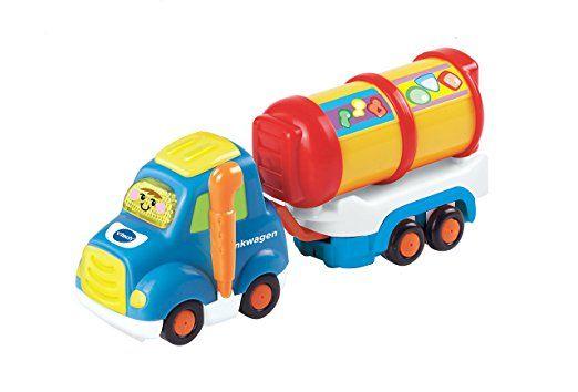 Vtech 80 164504 Tut Tut Baby Flitzer Tankwagen Und Anhanger Tut Tut Baby Flitzer Spielzeug Baby