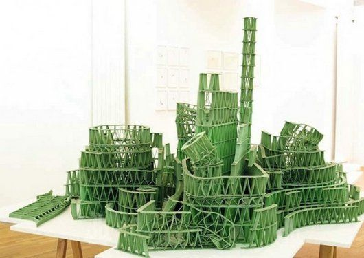 art, interesting, cool, sculpture, Art Sculptures Made Entirely Out of Sticks of Chewing Gum