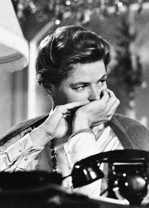 Portrait of Ingrid Bergman in Goodbye Again directed by Anatole Litvak, 1961. Photo by Yul Brynner