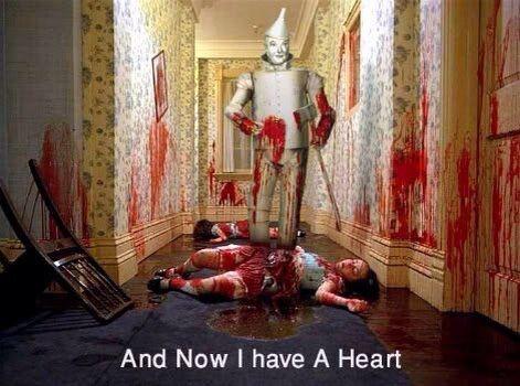 Yeah! Now the Tin Man has a heart.