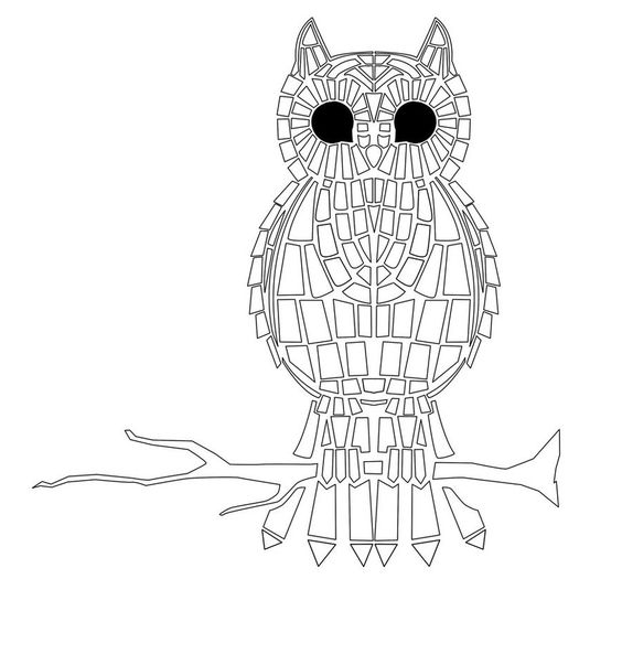 Advanced Mosaic Coloring Pages : Mosaics coloring pages for adults and on pinterest