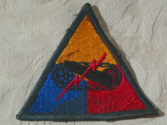 MILITARY SHOULDER PATCH United States Armored Forces Headquarters Korean War Era  Junk_599  http://ajunkeeshoppe.blogspot.com/