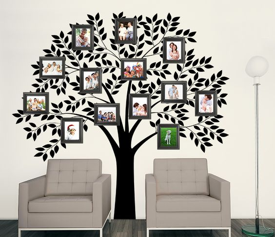 Wall Art Stickers Gumtree : Family tree wall mural for textured walls