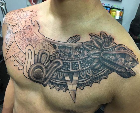 22 Tatuajes de grecas aztecas