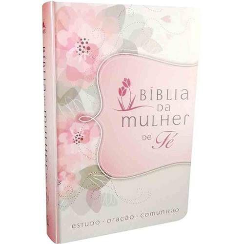 Livro Biblia Da Mulher De Fe Nvi Couro Soft Flores Biblia