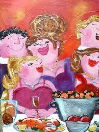 schilderij diner -